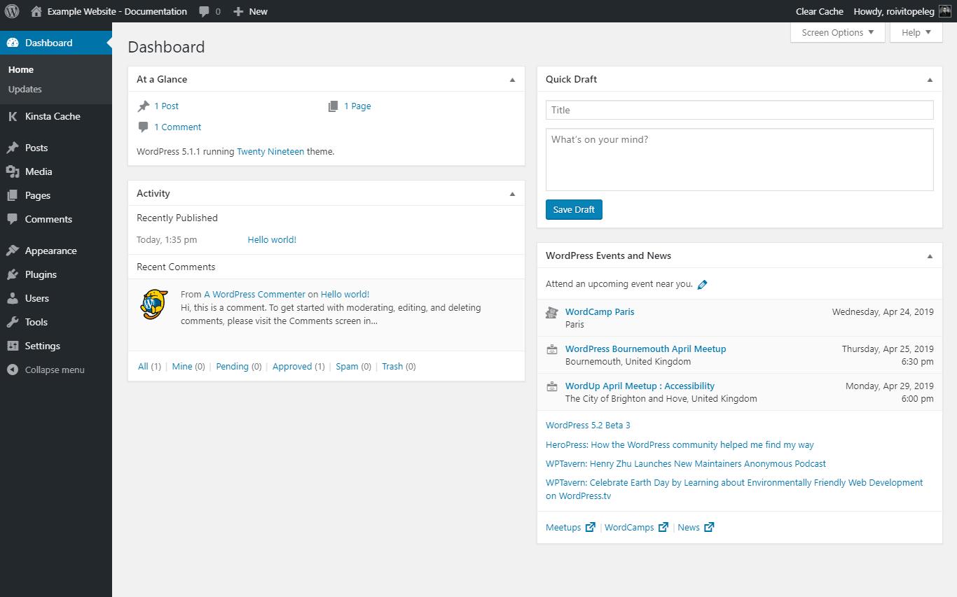 screenshot examplewebsitedocumentation.kinsta.cloud 2019.04.24 14 56 46