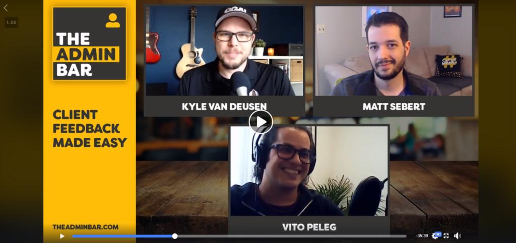 Podcast: Vito on The Admin Bar with Kyle Van Deusen & Matt Sebert 2
