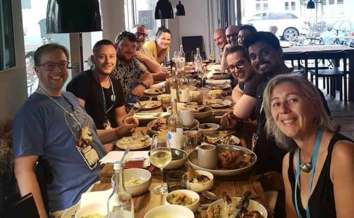 Andrew Palmer from Elegant Marketplace got us fed up 🤰 — with Bernhard Gronau, Sean Barton, Vito Peleg, Piccia Neri WP and Rajendra Zore.