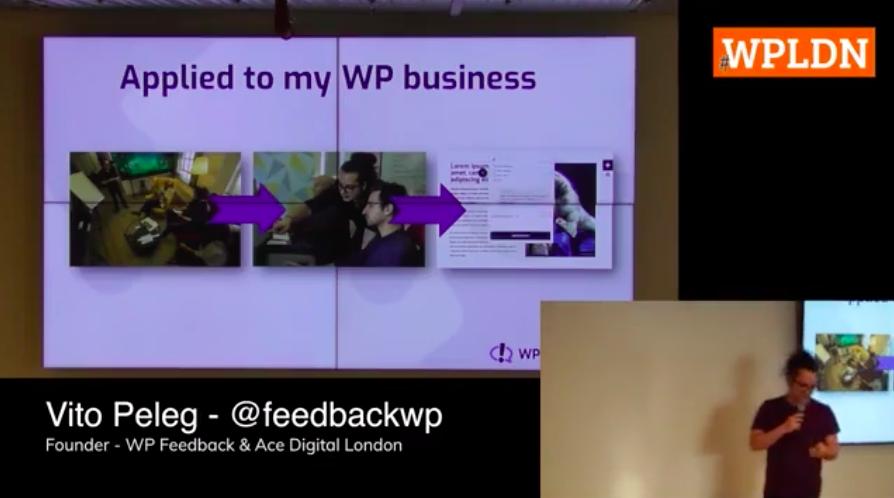 Vito at the WordPress London Meetup at Cloudflare 2