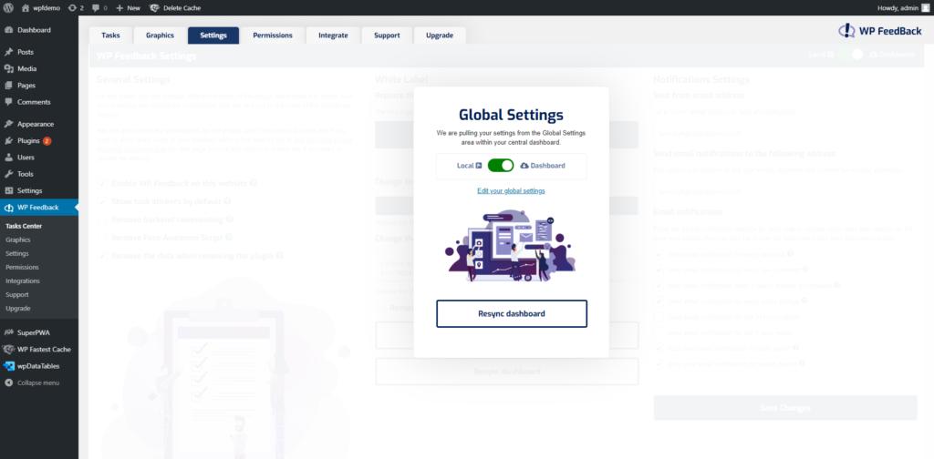 WP FeedBack 1.1.8 - Global Settings 3