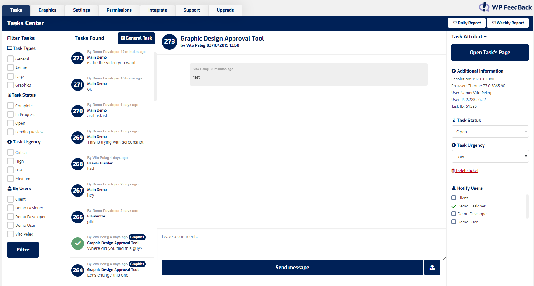 screenshot demo.wpfeedback.co 2019.10.03 15 23 02