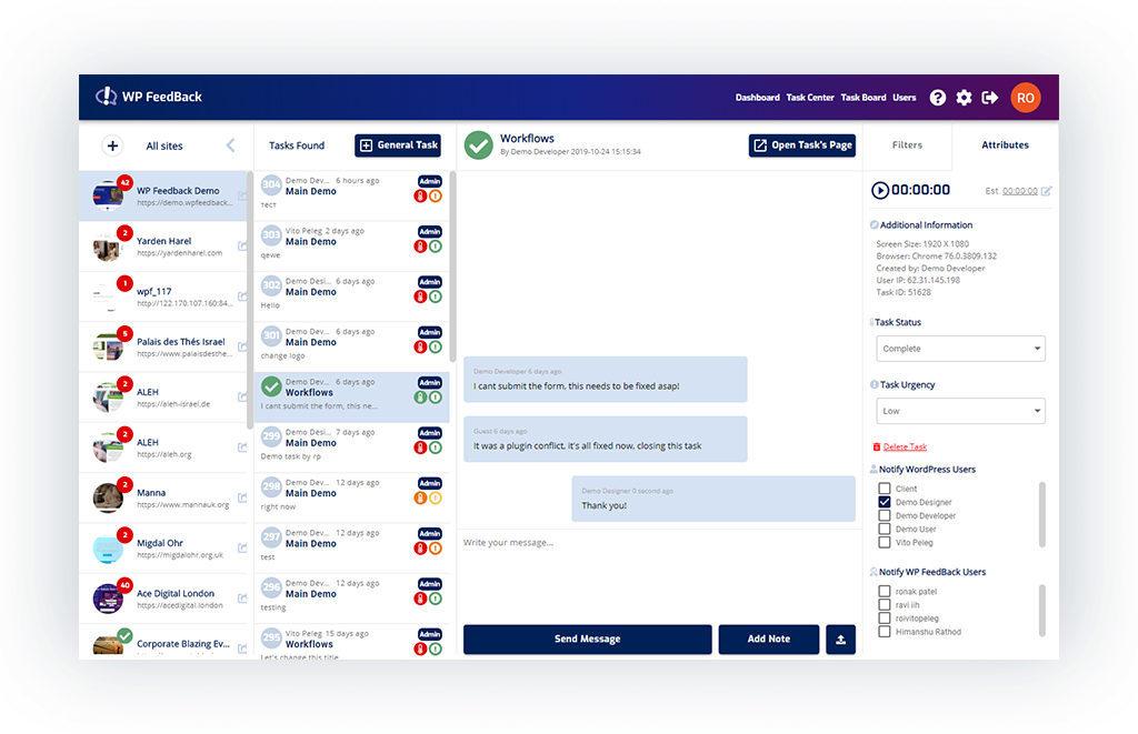 WP FeedBack 1.1.8 - Global Settings 5