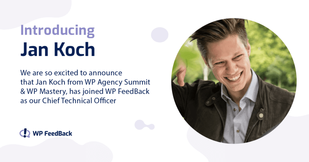 Jan Koch joins WP FeedBack 2