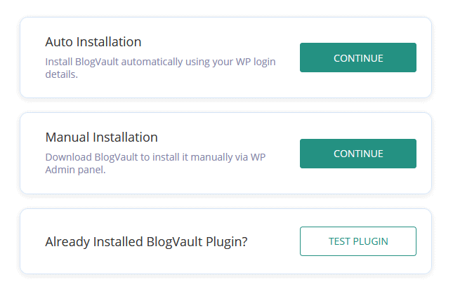how to install BlogVault on your WordPress site