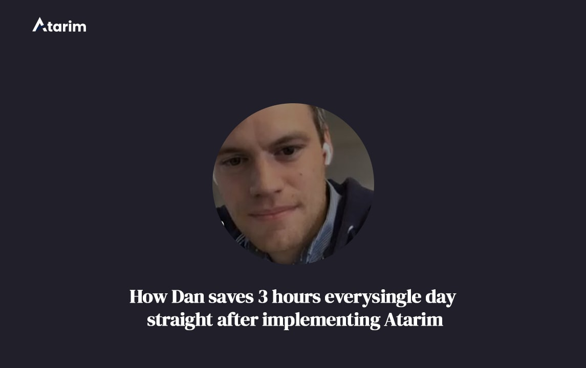 How Daniel Immediately Started Saving 3 Hours Every Day With Atarim 2