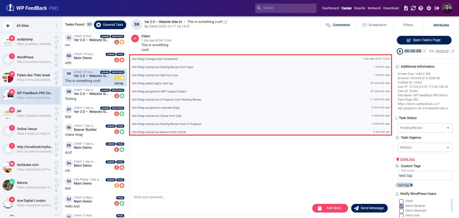 WP FeedBack PRO 1.9 – CSV exports, status notifications & bug fixes 4