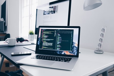 Macbook running code
